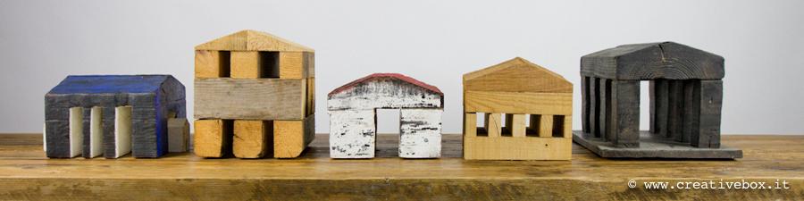Casette realizzate con legno di recupero